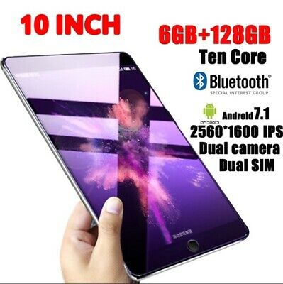 "11""6 Android Tablet IPS Screen Camera Bluetooth WiFi 32G 64G 128G"