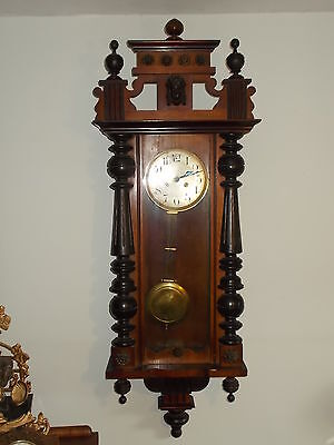 VIENNA German/Austrian ANTIQUE WALL CLOCK H-126 cm