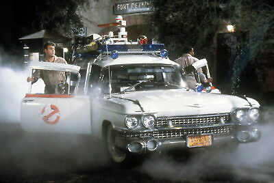 "GHOSTBUSTERS DAN AKROYD ECTOMOBILE A4 GLOSS POSTER PRINT LAMINATED 11.7""x7.8"""