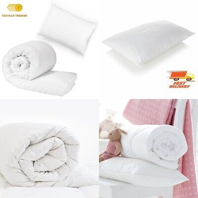 Anti-Allergy Cot Bed Duvet Quilt/Cot Pillow Nursery Baby Toddler Bedding All Tog