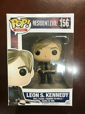 Funko Pop! Resident Evil Leon Kennedy #156 -VAULTED- *AUTHENTIC*