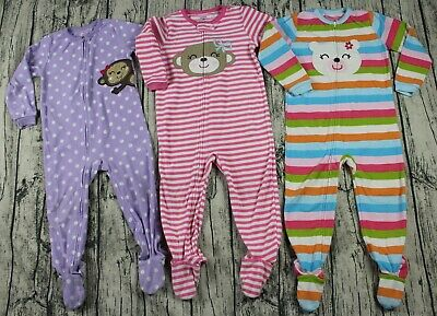700d6b7bed9c CARTER S SUPER COMFY Girl s Pink Cupcake Footed Pajamas PJs Size 4T ...