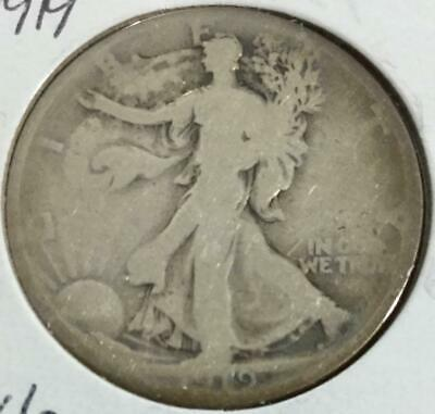 1919 US LIBERTY Walker SILVER Half Dollar! Lower Mintage! Old US Coin!