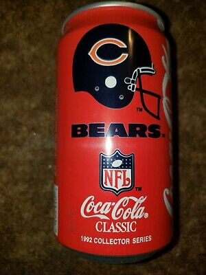 Coca-Cola Can 1992 NFL Collector Series Chicago Bears Coin Bank Coke Classic