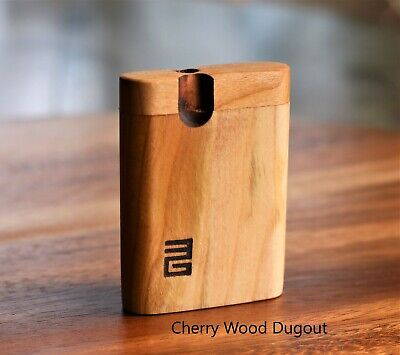 """American Cherry Wood 3"""" Dugout with 2"""" One Hitter Bat- Perfect Gift"""