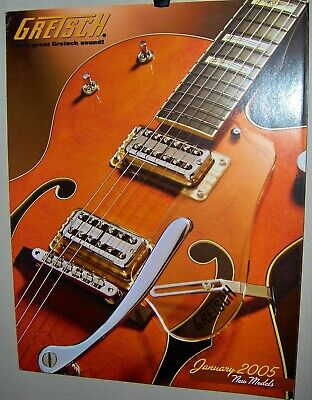 GRETSCH Guitars Catalog January 2005 Full Color 6 Pages New Models Very COOL
