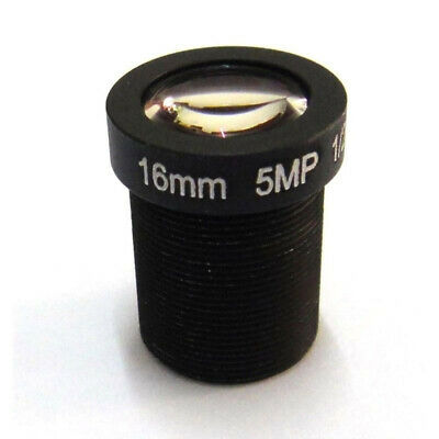 Lens 5mp 16mm IR M12x0.5 MTV View 50m Security Camera 20° Angle Thread Fixed