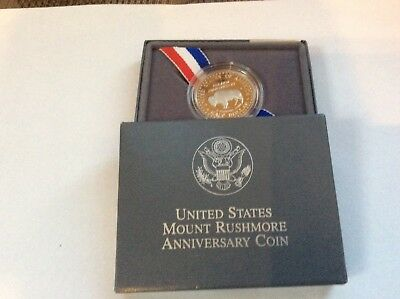 US Mint 1991 Mount Rushmore Anniversary Silver Proof Coin w/Box+COA