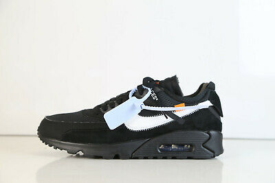 new concept 2a2f4 ef45a Nike Air Max 90 Off-White Virgil Abloh Black Cone White AA7293-001 6