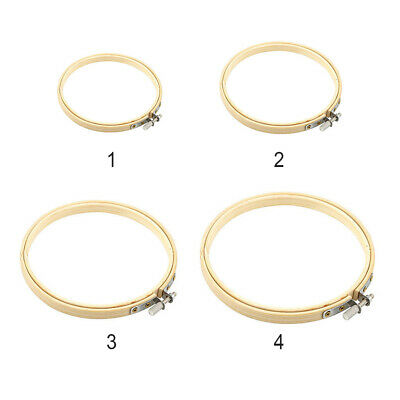 New Wooden Cross Stitch Machine Bamboo Embroidery Hoop Ring Sewing Tool 13-26cm