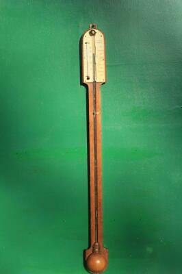 J King Clare St Bristol Antique English Oak Stick Barometer