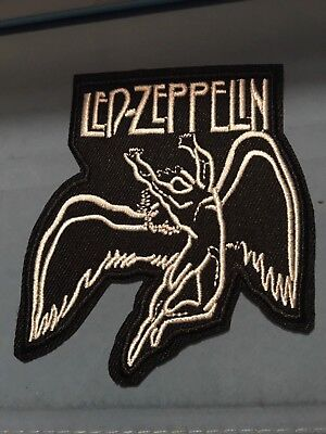 """Led Zeppelin Embroidered Iron/Sew ON Patch 3.5 x 3"""" Rock Metal Music"""