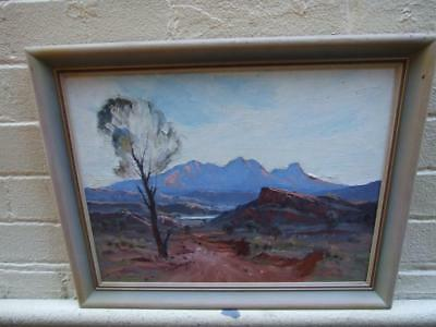 LESLEY ALFRED CAMPBELL CENTRAL  AUSTRALIA OIL PAINTING LANDSCAPE  ART 1925's