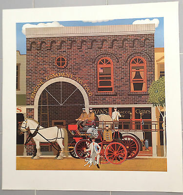 Herb Filmore Engine House Deluxe Limited Edition Print