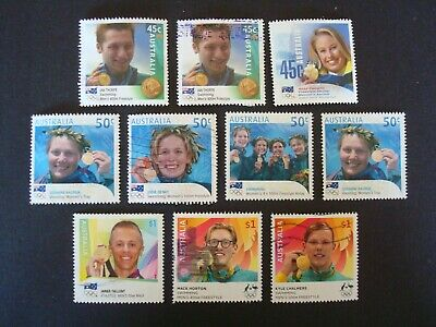 2000s - 10 x Mix of Olympians Used Australian Stamps