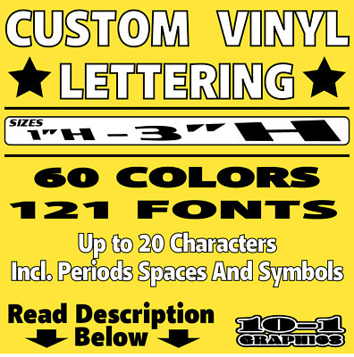Custom Vinyl Lettering Decal Personalized Name Text Wall Art Car Window Sticker