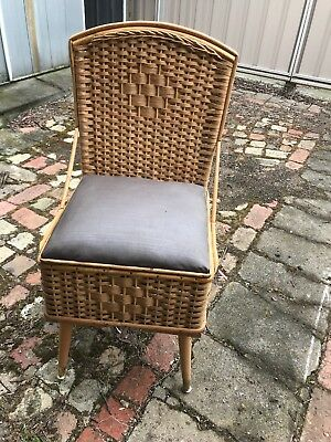 Vintage Commode Chair Seat Cane Retro Potty