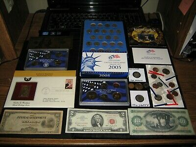 BIG Coin Lot PROOF SET Red Seal Cello Silver Old Nickels Old Coin NO JUNK DRAWER