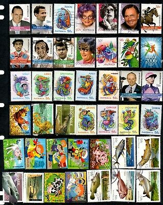 Australia - 240 different 50c SHEET commemoratives (37H)