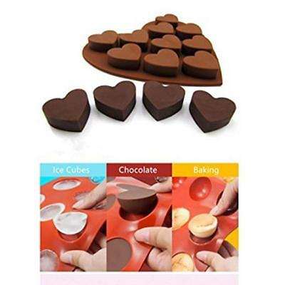 Love Heart Ice Cube Tray Flexible Silicone Candy Chocolate Cake Jelly Mould YI