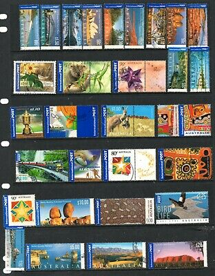 Australia - 74 different INTERNATIONAL Post stamps to $20 (37X)
