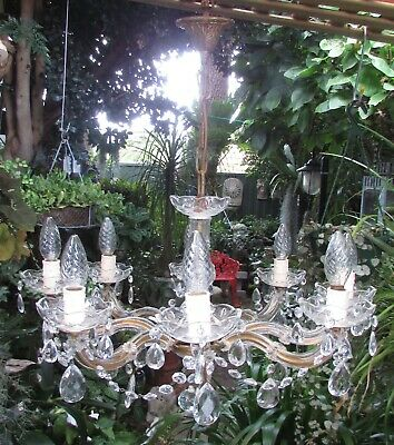 Stunning Vintage Large 8 Light Branch Maria Theresa  Chandelier Bed Dining Room