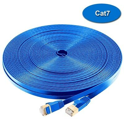 High quality Flat CAT7 SSTP Gigabit Ethernet Network Cable Double Shielded Gold