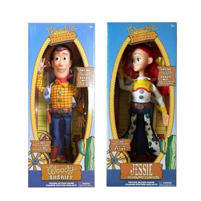 "Toy Story 4 WOODY JESSIE Doll 15"" Talking Action Figure plush soft toy"