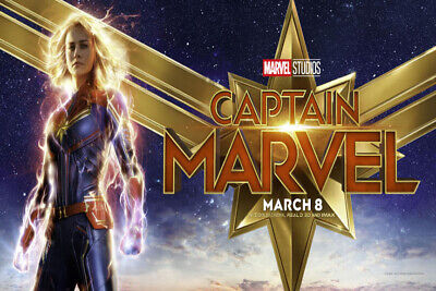 Y228 Captain Marvel 2019 Movie Brie Larson Art Sikl Poster Custom 36 32x48inch