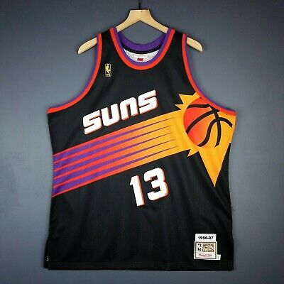 new concept 20ed1 9b24f 100% AUTHENTIC STEVE Nash Mitchell & Ness 96 97 Suns Jersey Size 52 2XL Mens