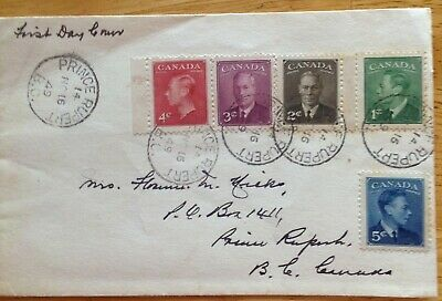 Canada 1949 FDC KGVI cancelled at Prince Rupert