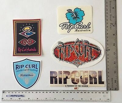 90's RIP CURL STICKERS SET OF 5  ALL ONE FOR PRICE $25 SURFING  90's THE SEARCH