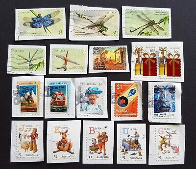2017 - Mixed Used Australian Stamps on Paper - Some Sets - #7