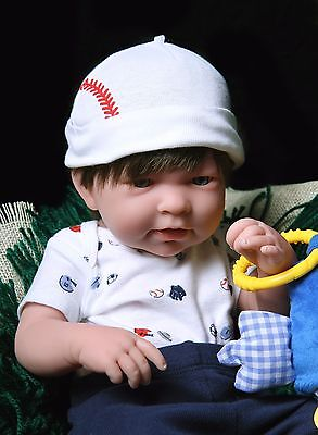 "Baby Boy Real Reborn Doll Clothing Berenguer 17"" Toy Gift Soft Vinyl Life Like"