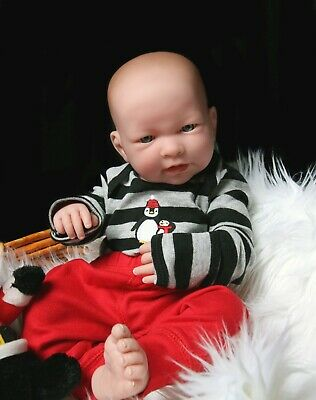 "Baby Boy Real Reborn Doll w/Accessories 17"" Toy Gift Soft Vinyl Life Like"