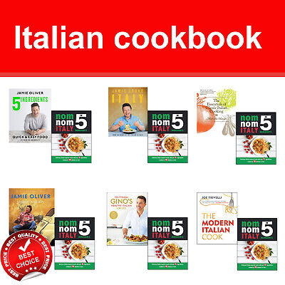 Nom Nom Italian cookbook collection 5 Ingredients, Jamie Cooks Italy books set