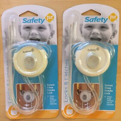 Set of 2 Safety 1st Secure Cabinet Lock Fits Knobs & Handles, Locks & Latches