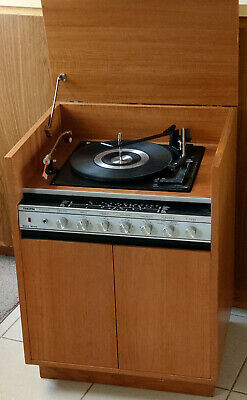 Vintage WORKING Thorn 1414 Solid State Stereo Record Player Radio Cabinet