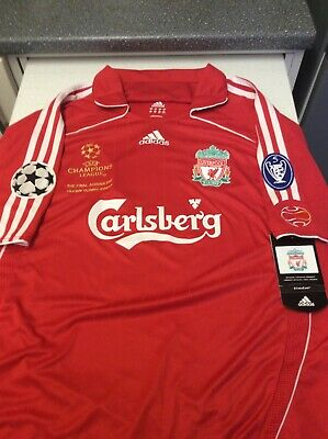 4f79fca05a1 Liverpool 2007 UEFA CHAMPIONS LEAGUE FINAL (( GERRARD) SIZE XL NEW WITH TAGS