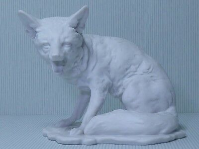 Rare Kaiser Bisque Porcelain Fox Seated With Mouth Open Figure Ref  566