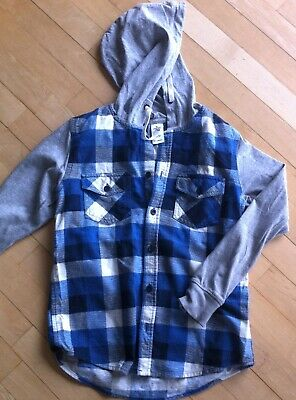 checked flannel long sleeve top/hoodie boys size 10  save and combine postage