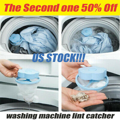 Floating Lint Hair Catcher Mesh Pouch Washing Machine Laundry Home Filter Bag