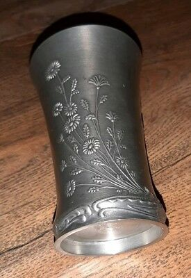 🌟 Original VINTAGE Zinnbecher FRIELING GERMANY Antik Shabby Deko Vase 🌟