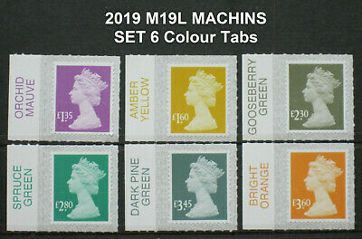 2019 Machin M19L New Tariff  SET of 6 Colour Tab Singles
