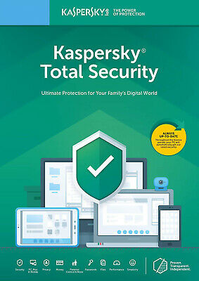 Kaspersky Total Security 2019 1PC 2PC 3PC 5PC / dispositivos 1 año