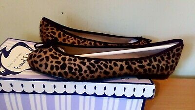 fbb84913259a French Sole India ballerina leopard pony hair flats size uk 7, BNIB, Rrp £