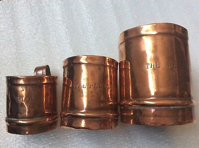 Antique 1834 Copper Pub Measures 'The Plough'. Year Stamped & Makers Mark RARE!