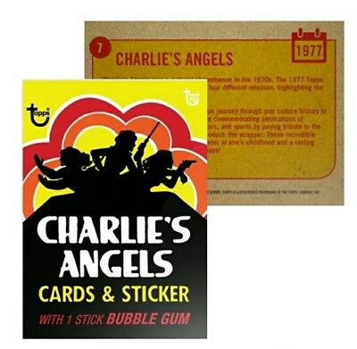 2018 Topps Wrapper Art Card #7 1977 Charlie's Angles 80th Anniversary