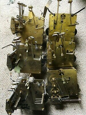 6 x Franz  Hermle 8 Day Grandfather Clock movements