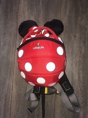Little Life Minnie Mouse Red Backpack Rucksack Toddler Reigns Safety Lead Bag